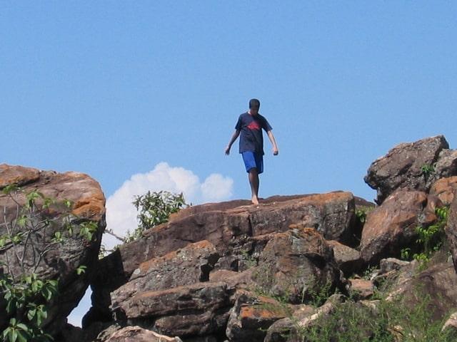 रॉक क्लाइंबिंग हम्पी - Rock Climbing Hampi In Hindi