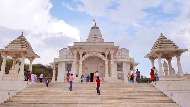 जयपुर का प्रमुख दर्शनीय स्थल बिरला मंदिर - Jaipur Ka Pramukh Mandir Birla Mandir In Hindi