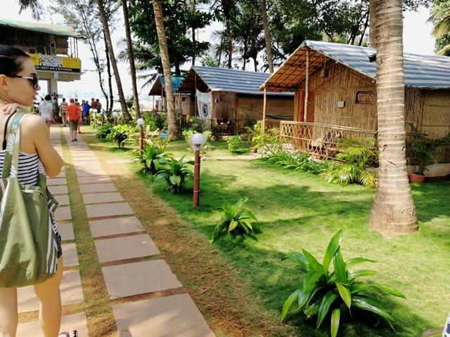 मंड्रेम बीच पर रेस्टोरेंट और स्थानीय भोजनालय - Restaurant and shack Near Mandrem Beach In Hindi