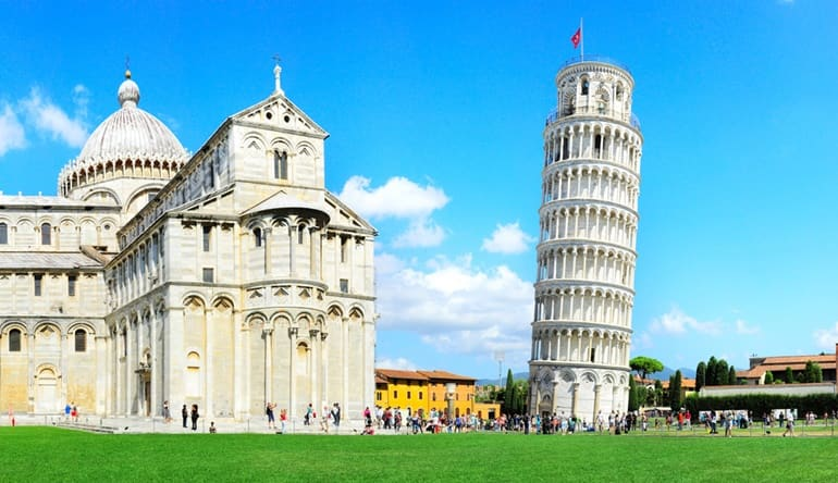 इटली का आकर्षक स्थान पीसा की मीनार