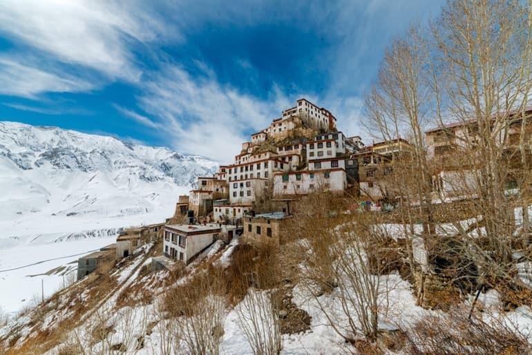 स्पीति घाटी के दर्शनीय स्थल काई मठ