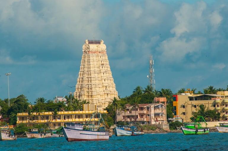 चार धाम यात्रा में तमिलनाडु के रामेश्वरम धाम के दर्शन