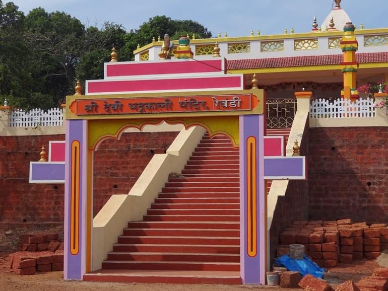 विजयदुर्ग किले मालवण के धार्मिक स्थल श्री भद्रकाली मंदिर