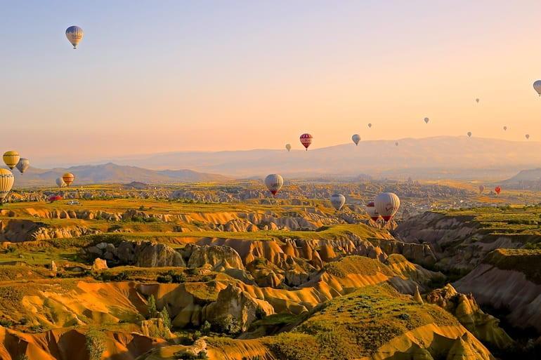 तुर्की में घूमने के लिए ऐतिहासिक स्थल कप्पडोसिया