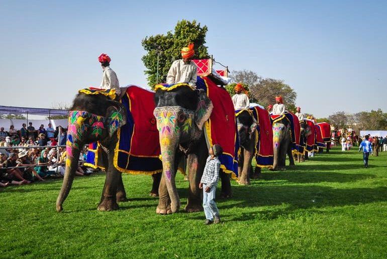 जयपुर एलीफेंट फेस्टिवल - Jaipur Elephant Festival In Hindi
