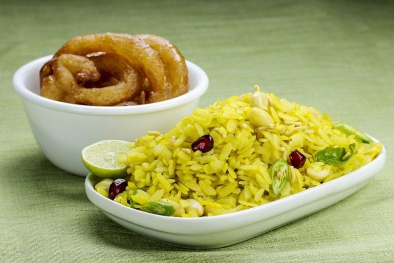 भारत में सबसे लोकप्रिय व्यंजन पोहा जलेबी