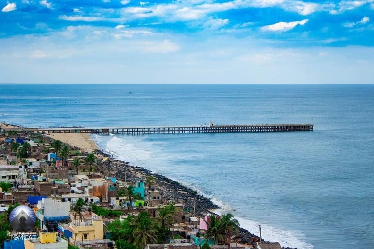 पांडिचेरी का प्रसिद्ध आकर्षण स्थल प्रोमेनेड बीच - Pondicherry Ka Prasidh Aakarshan Sthal Promenade Beach In Hindi