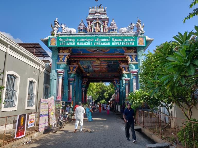 पांडिचेरी का प्रमुख धार्मिक स्थल श्री मनाकुला विनयगर मंदिर - Pondicherry Ka Pramukh Dharmik Sthal Sri Manakula Vinayagar Temple In Hindi